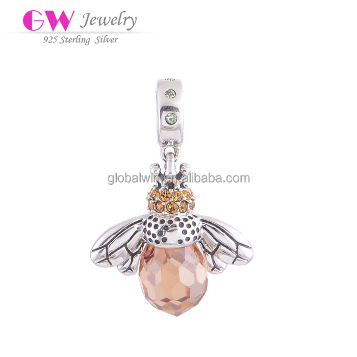 Animal Shaped Beads Silver 925 Jewellery Findings Bee Charms For Girls