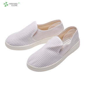 Wholesale cleanroom PU sole esd canvas dustproof shoes antistatic safety work shoe