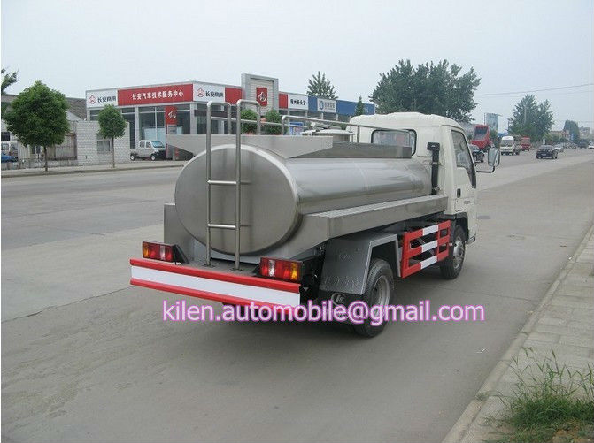 FOTON 4X2 milk transport vehicle /milk tanker transport truck