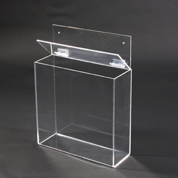 Clear Acrylic Wall Mounted Outdoor Brochure Holder Perspx