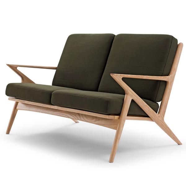 Two Seat Wooden Sofa Set