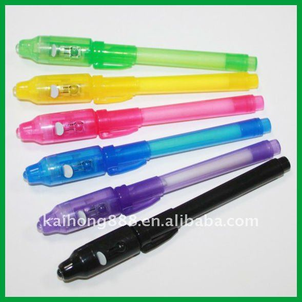 Magic Invisible UV Secret Pens with waterproof ink