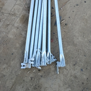 Construction widely Q235 / Q345 carbon steel ringlock system scaffolding for sale