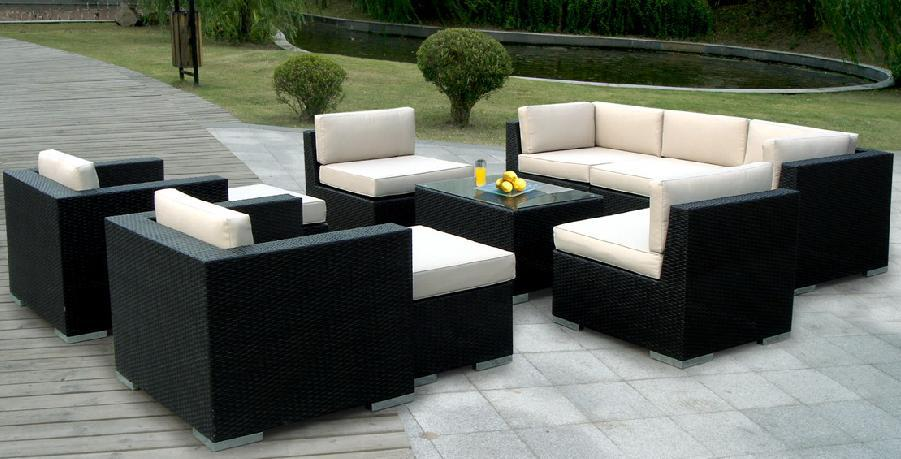 Fashion sofa set outdoor synthetic basket made of rattan