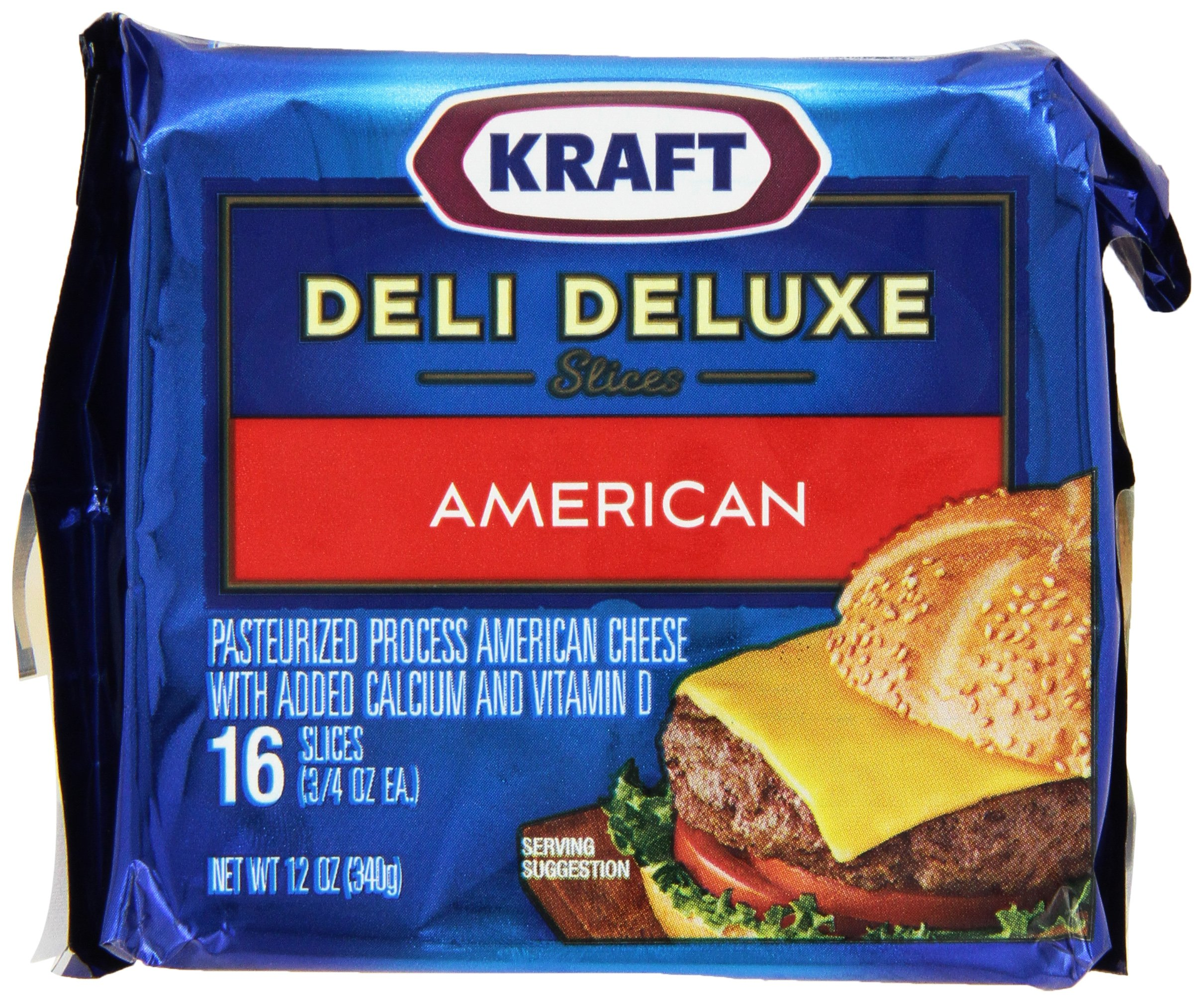 Kraft, Deli Deluxe Cheese, American, 16 Slices, 12 oz