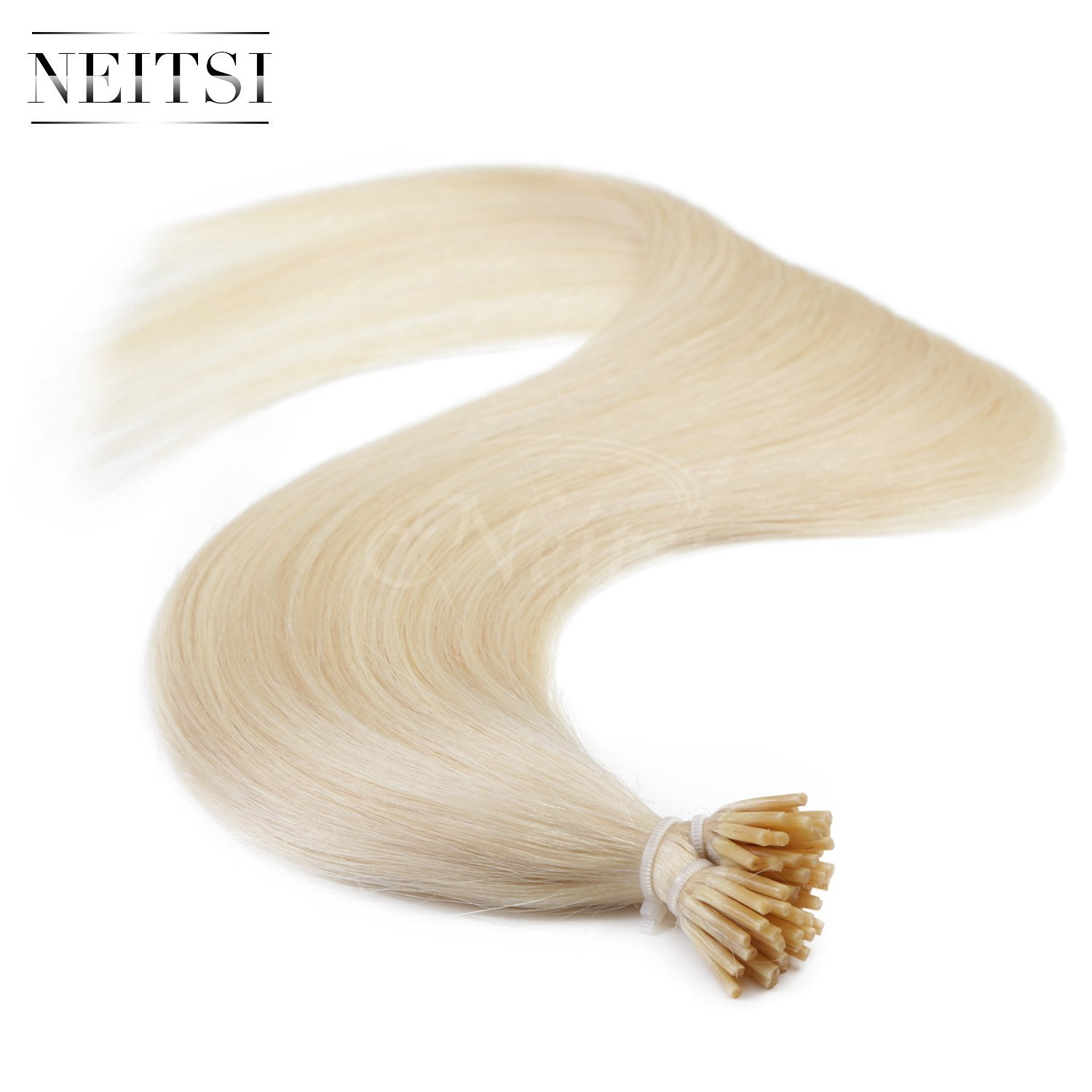 "Neitsi 20"" 1g/s 25s/lot Fusion Glue I Tip/Stick Remy Human Hair Extensions (60#)"