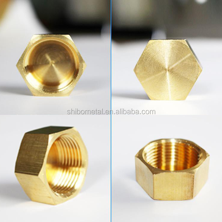 Factory supplier OEM service custom-made high precision hexagon brass bolts and nuts