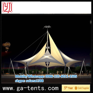 landscape sketch membrane structure tent fabric shared space canopy