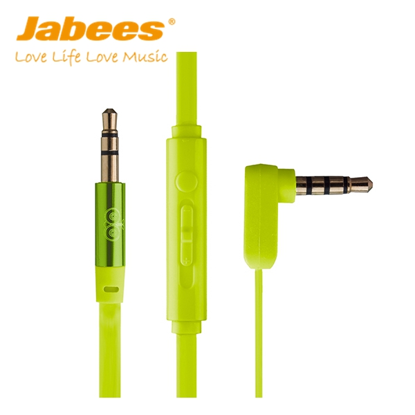 Jabees 2017 hot selling mobile accessories wholesale car aux audio cable with mic and volume control