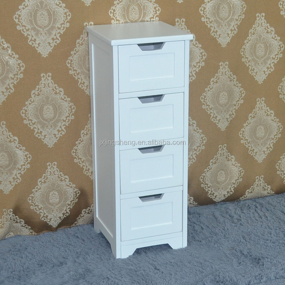 Low price cheap white wooden furniture storage bathroom cabinet