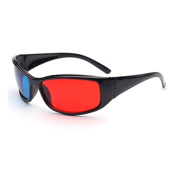 New design Plastic Red Cyan 3d Glasses for Virtual Movie Watching