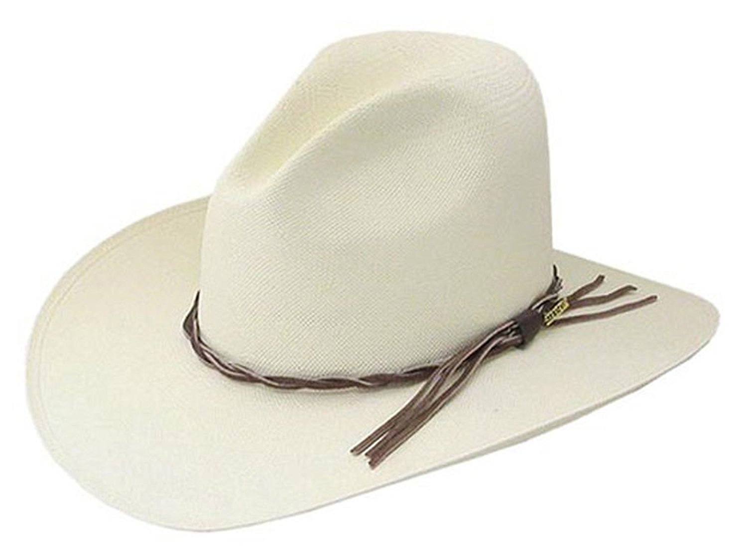 23376bc330a Get Quotations · Stetson Gus Straw Cowboy hat