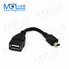 Black High Speed Mini 5pin USB OTG cable for cellphone mp3/mp4