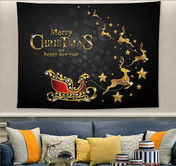 Ins Christmas Wall Hanging Decoration for living room wall tapestry polyester beach blanket
