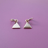 engraving triangle pure 24K gold metal tags