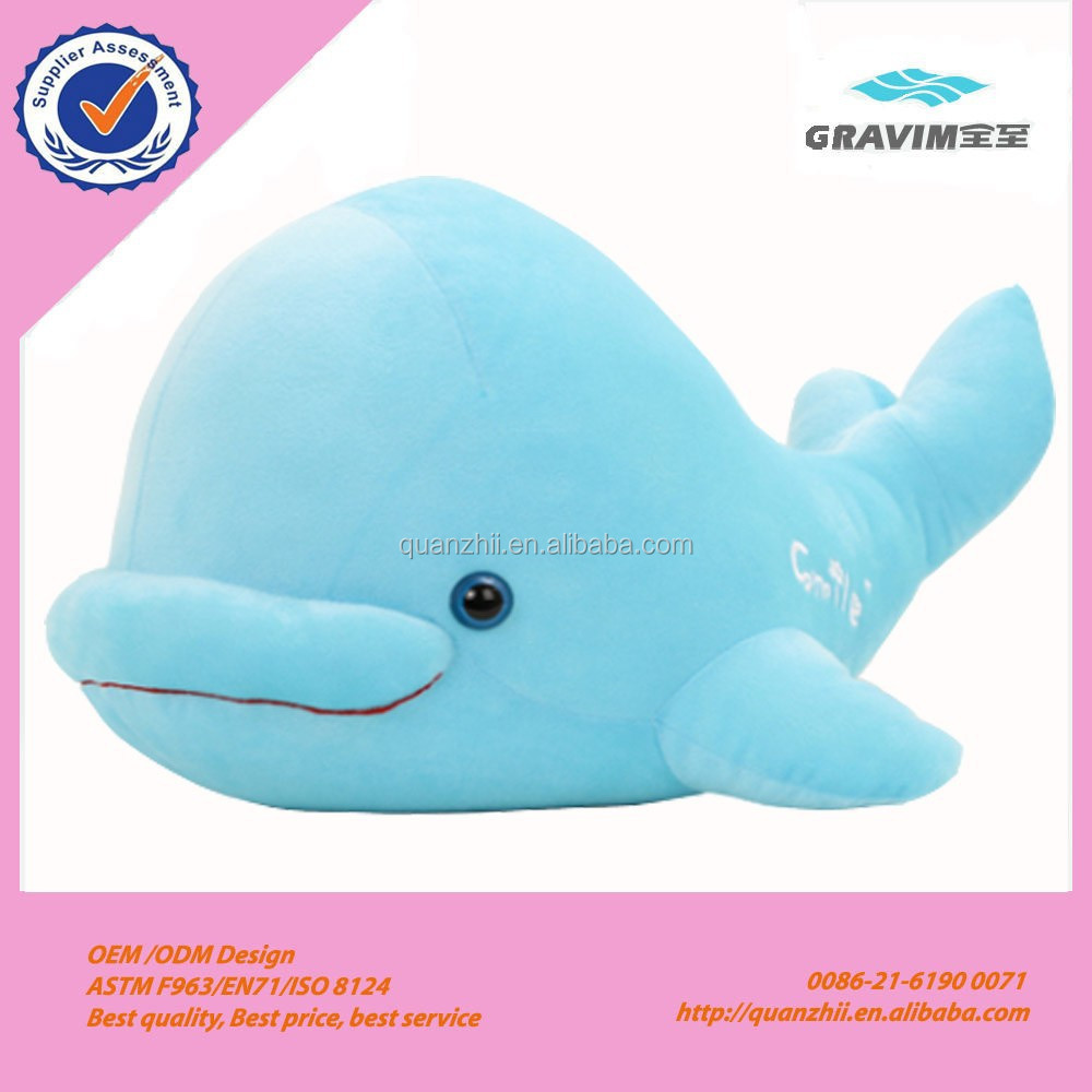 2014 most popular cheap price soft animals china whale stuffed toys