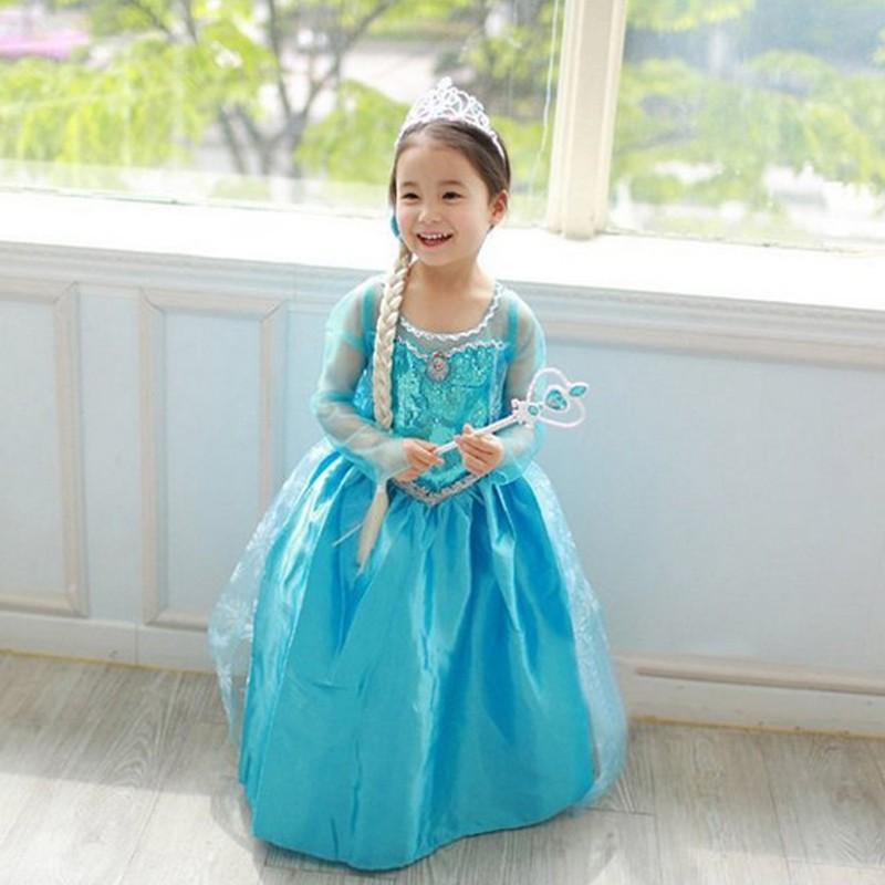 BXLSZ-5  sc 1 st  Alibaba & Hot Sale Elsa Queen Costume Kids Masquerade Party Dress For Frozen ...