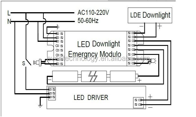 conversion module for led emergency light with 12vdc