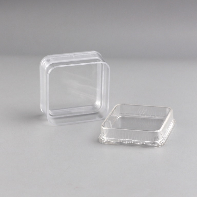 55X55X25mm jewelry boxes plastic transparent clear plastic film Frame Case coin collection box