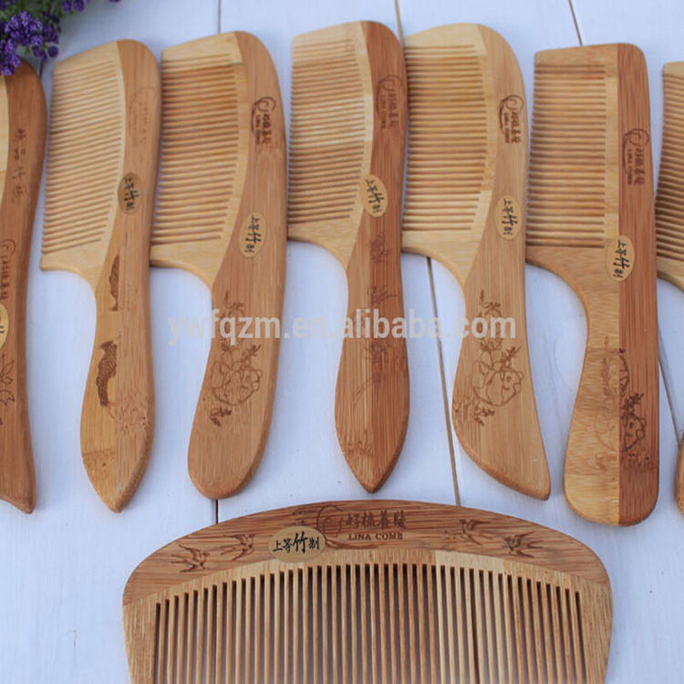 natural bamboo comb,various styles of bamboo wooden beard lice comb