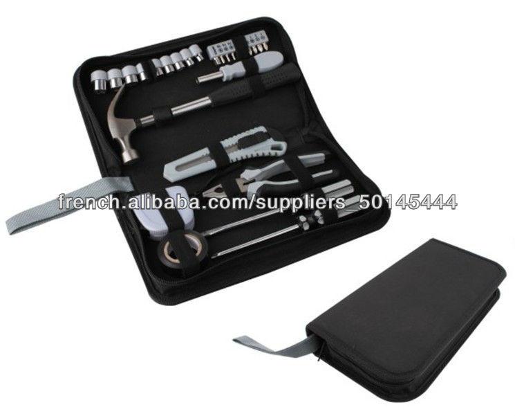 cadeau de promotion d 39 outils main zip portable voiture 27pcs d finit trousse outils avec. Black Bedroom Furniture Sets. Home Design Ideas