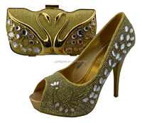 High quality ladies matching shoes and bags set,african sexy high heel shoes beautiful design,12cm high heel shoes