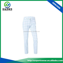 Sublimated Ladies' Slim Fitted Golf Pant ,Ladies Trouser Cutting