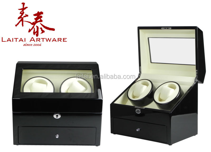 Import china product dual rotors rotating watch winder holder with drawer b71d19bf5