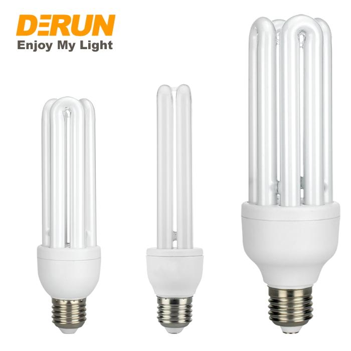 Lampu Bohlam Kaca 2u 3u 4u Cfl, Suku Cadang Pipa Bahan Baku SKD E27 B22 Siang Lampu Hemat Energi Ekonomis, CFL-U