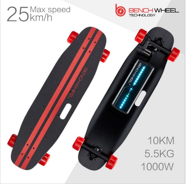 2017 new offroad 4 wheels wireless remote control longboard 1000W electric skateboard