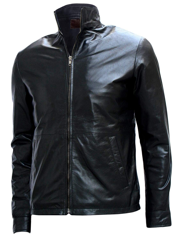 "Xport Designs Tom Cruise ""Minority Report"" Black Biker Leather Jacket"