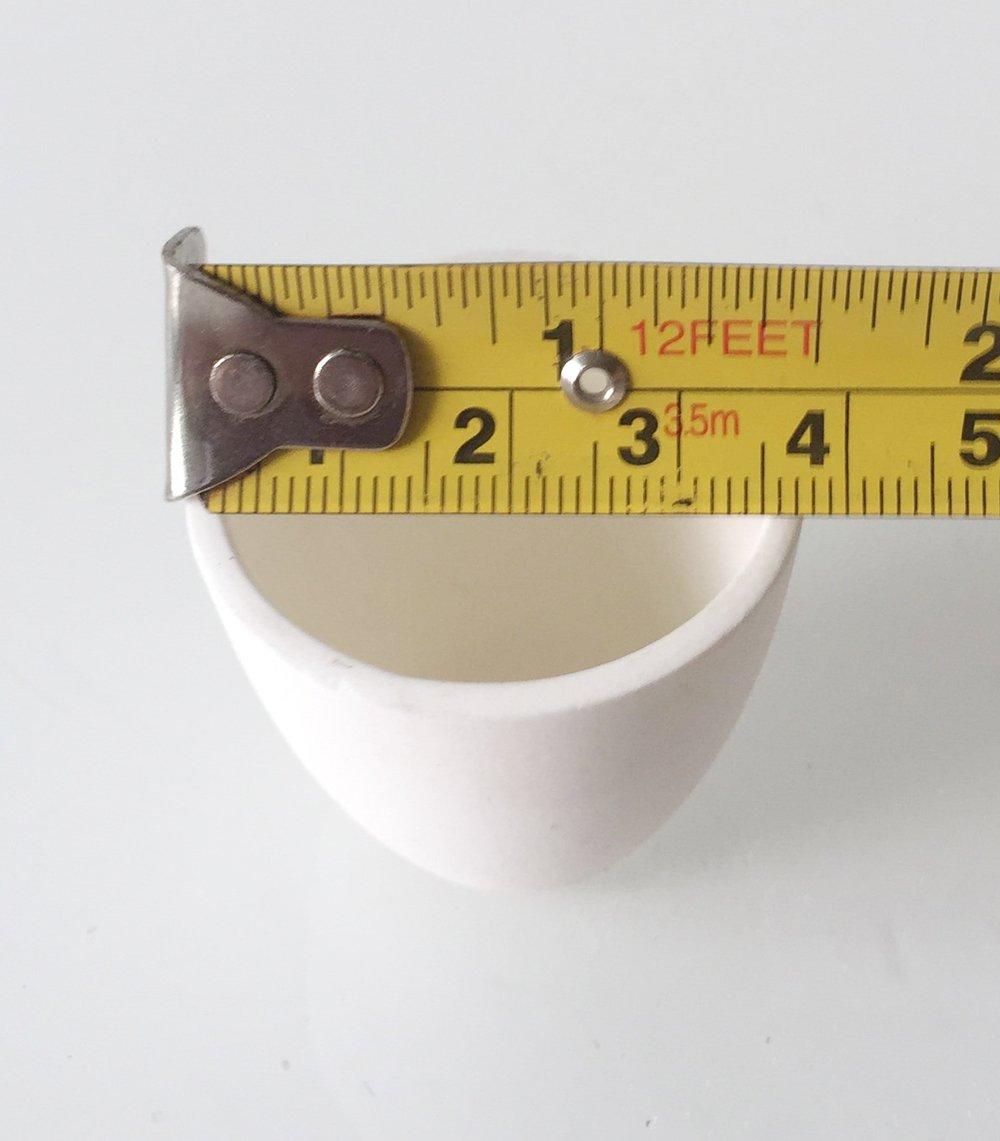 5000 G Gram 3215 DWT Mini Ceramic Alumina Crucible Dish Cup Pot For Melting Casting Refining Gold Silver Copper Scrap Metal Jewelry Circuit Boards