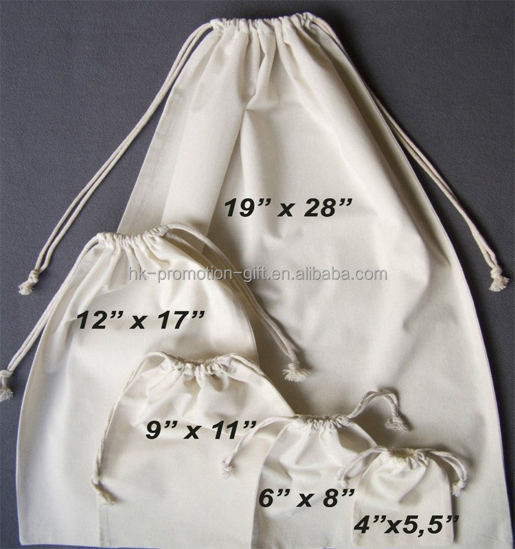 alibaba china cotton muslin drawstring dust bag, drawstring gift pouch, cotton produce bags