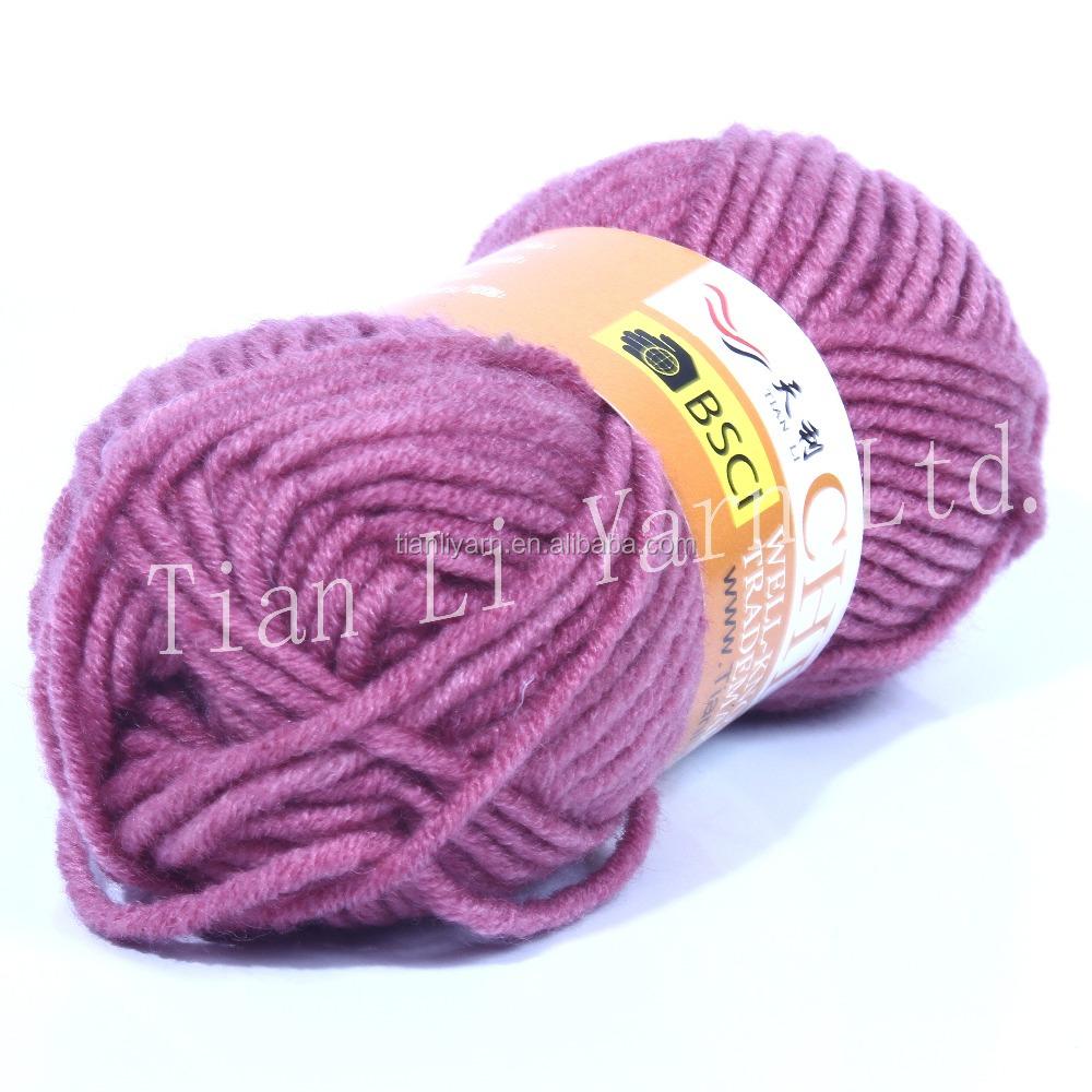 Wool And Acrylic Yarn Hand Knitting Yarn Chunky Yarn