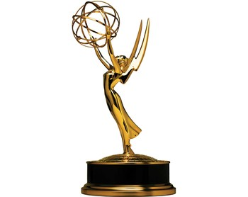 wholesale  Artificial  29cm Emmy metal trophy prize awards 18K gold plating Emmy trophy