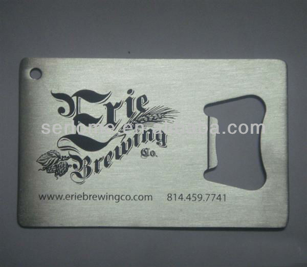 Stainless Steel Credit Card Bottle Opener with Silk Printing Logo