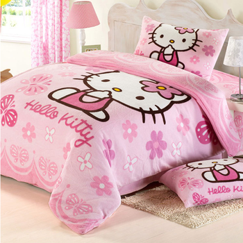 Model fabric with flower smell aid sleep baby hello kitty crib bedding set