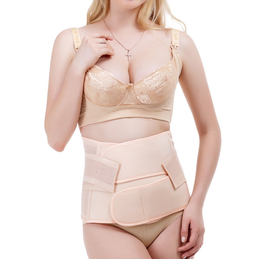 e97b47fd8fd Get Quotations · SYlive Women Postpartum Girdle -Recovery Belly Waist Belt  - Corset Shapewear Band Wrap for Ladies