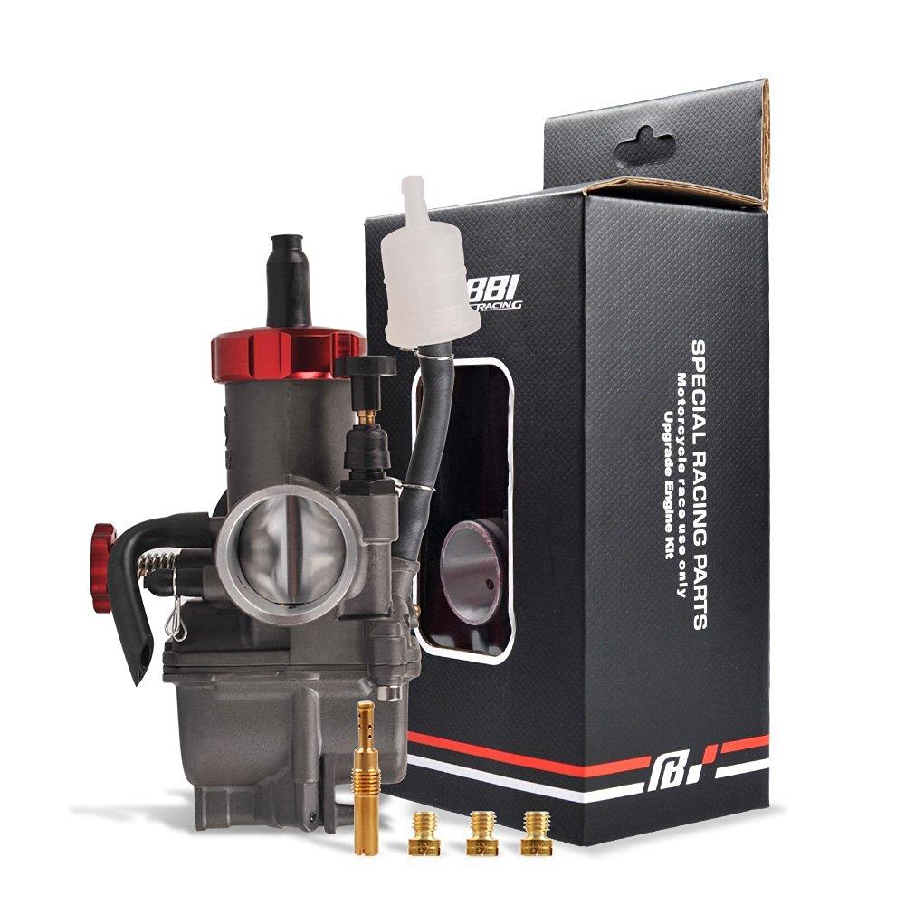 Buy Nibbi Stainless Carb Pe Pwk 26mm 28mm 30mm Carburetor Injector Carburator 28 Flat Slide Jet Intake Manifold Air