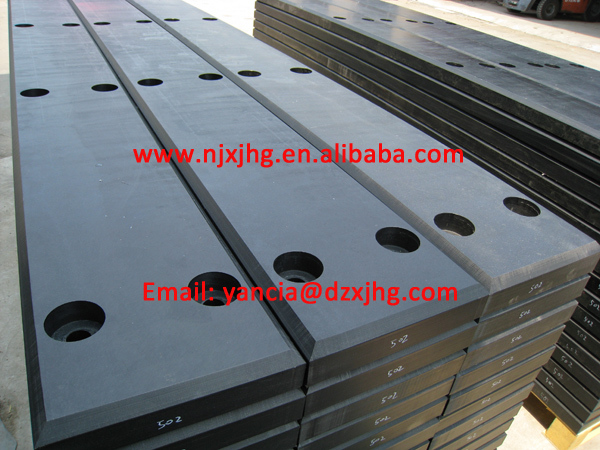 docking construction 30mm thick UHMWPE/HDPE marine fender pad for boating