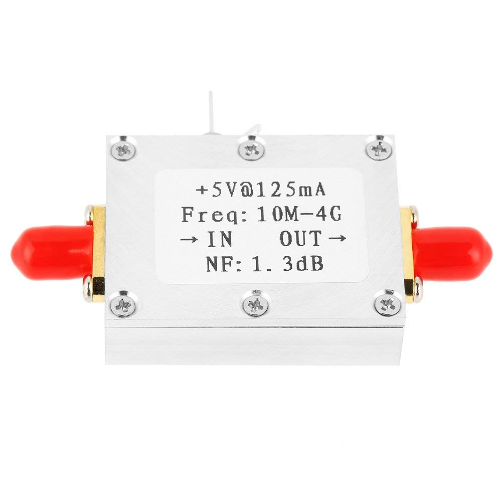 Low Noise Amplifier,1pc Low Noise Amplifier 21dB High Gain LNA 0.01-4GHZ bandwidth NF=1.3dB RF amplifier Module Board