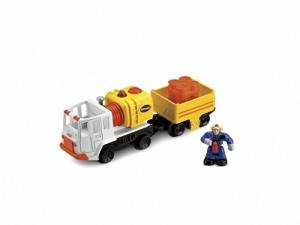 Fisher Price GEOTRAX L&S FUEL & FIX-UP TRUCK w/ FIGURE