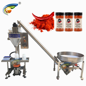 Shanghai manufacturer semi automatic corn starch filler,semi auto automatic 5 spice powder filling line