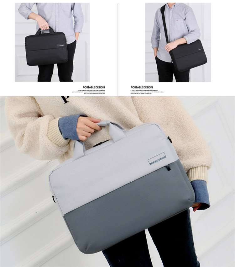 Custom Waterproof Fashion 13 inch 14 inch 15 inch Messenger Computer bag Briefcase Business Shoulder Laptop bags