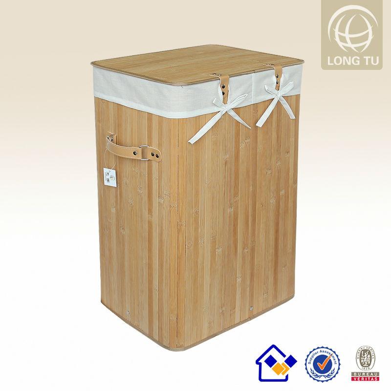 Antiguo plegable contenedores de ropa sucia de bamb de - Cestos para ropa sucia ...