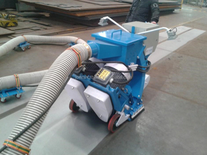 ship deck floor shot blasting machine/floor shot blaster/protable sand blasting machine