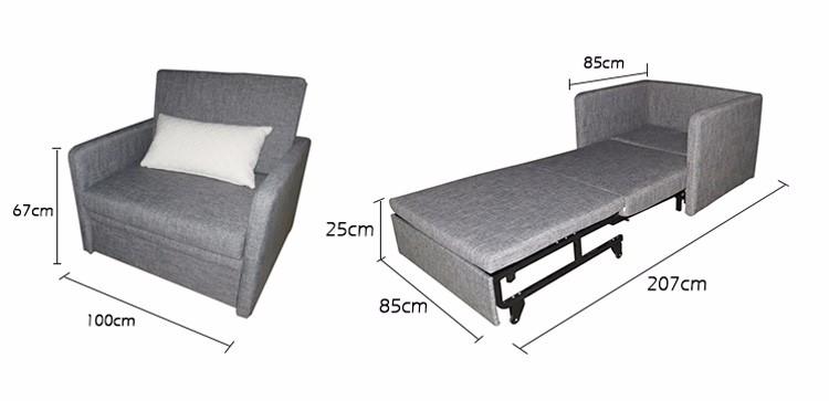 Sleeping Futon Folding Single Seat Chair Sofa Bed For Hospital