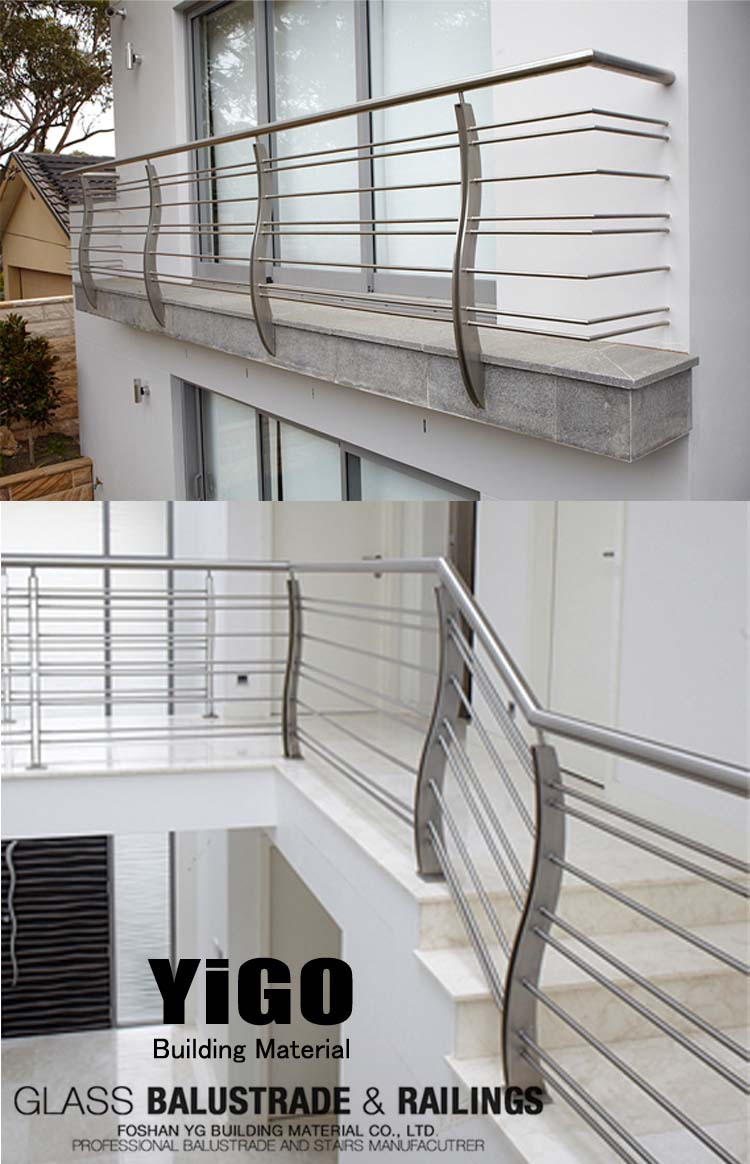 Prices of stainless steel balcony railing balcony for Balcony steel railing designs pictures