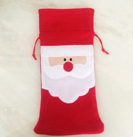 2016 Christmas santa pants candy bag drawstring cheap gift bag for Christmas decorationcandy bag