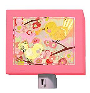 Oopsy Daisy Cherry Blossom Birdies Night Light, Pink and Yellow, 5 x 4 by Oopsy Daisy